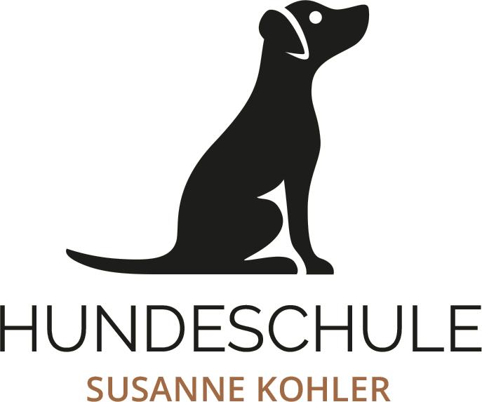 hundeschule-susanne-kohler-bühlerzell - das logo im hochformat zeigt einen sitzenden hund von der seite mit der unterschrift hundeschule susanne kohler